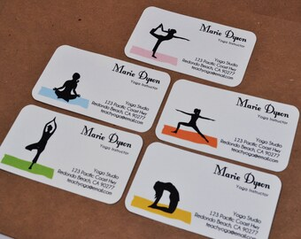 Custom Yoga Business Cards Calling Cards 00112