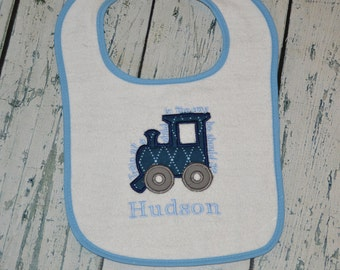 Personalized Train Up A Child Bib with Monogram