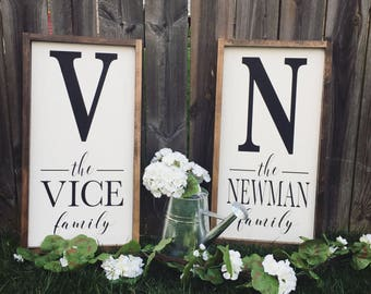 Last name signs/farmhouse sign/personalized signs/custom sign/farmhouse/farmhouse decor/rustic sign/rustic decor/farm signs