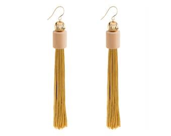 Long Fringe Earrings, Fringe Earrings, Long Earrings, Long Tassel Earrings, Long Statement Earrings, Modern Earrings, Fashion Earrings
