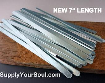 "Aluminum Bracelet Blanks, 1/4""x7"", Metal Cuff Bracelet, 14G Aluminum Stamping Blanks, Cuff Blanks, Choose 6 to 144"