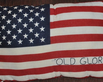 Flag Quilt Pillow= Old Glory
