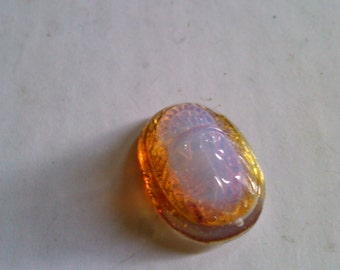 Vintage Glass Cabochon Japanese 1930's Scarab