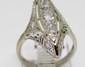Art Deco Fashion Statement Ring