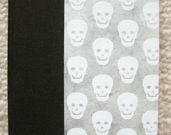 Small Lined Handbound Hardcover Skulls Journal