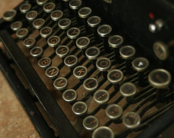 Antique Royal Typewriter, Glass Keys, 1930s Office, Set Design, Set, Prop, Home Decor, Wedding Guest Book