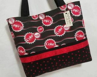 Coca Cola Bottle Caps purse tote bag