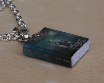 Custom Mini Book Necklace (full wrap)