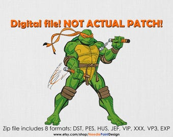INSTANT DOWNLOAD - Turtle machine embroidery design. Embroidery file