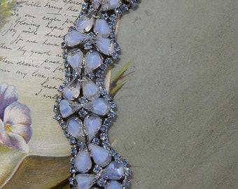 KRAMER Signed Blue Givre Rhinestone Bracelet     PAN13