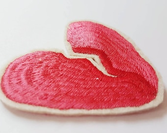 Broken Heart Embroidered Patch/Brooch