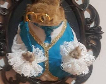 Taxidermy hare Edwardian chap