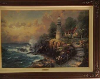"Thomas Kinkade ""The Light of Peace - Seaside Memories III"" Artist Proof Canvas!!"