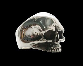 Skull ring - Sterling Silver Keith Richards Skull Ring - ALL SIZES