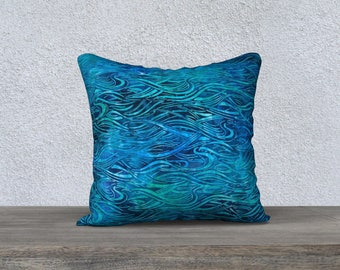 """Ocean Waves 18""""x18"""" Pillow Case"""
