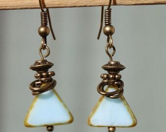 Baby Blue Earrings Jewelry Dangle Earrings Drop Earrings Small Earrings Czech Glass Earrings Gift For Her Gift for women Christmas Gift