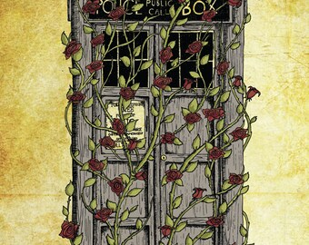 Doctor Who print - Rose - Dr Who Tardis inspired A4 art print poster- FREE WORLDWIDE SHIPPING