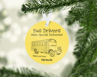 Special Delivery School Bus Driver Ornament