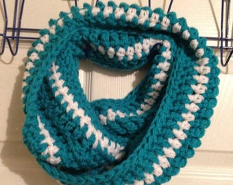 Infinity and Beyond Scarf Infinity Cowl Crochet Scarf Thick Scarf Striped Scarf Gift for Her Women's Girls Winter Accessory Gift Under 25