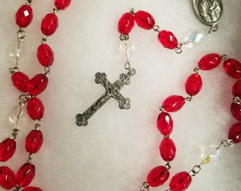 Holy Family Red Rosary