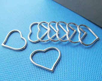22mmx27mm Antique Silver tone/Antique Bronze Heart Frame Connector Pendant Charm/Finding,for Bracelet,DIY Jewelry Accessory