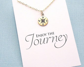 High School Graduation Gift for Her | College Graduation Gift, Compass Necklace, Nurse Graduation Gift for Best Friend, Class of 2018 | G02