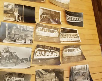 14 Vintage H &J Ltd Sydney  Australia Sepia Toned Factory Photographs of Internal Combustion Engines