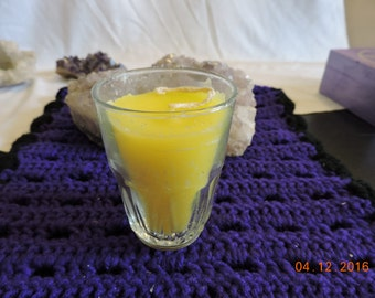 Yellow Rose Litha Candle For Celebrating The Longest Night of The Year, Midsummer Solstice