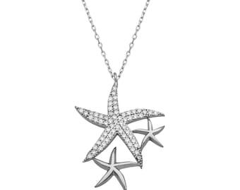 Silver Starfish Pendant - IJ1-2048