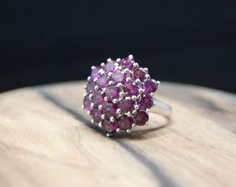 6.17ct garnet sterling silver ring