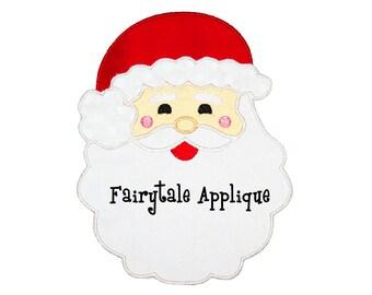 Digital Machine Embroidery Design - Santa Applique