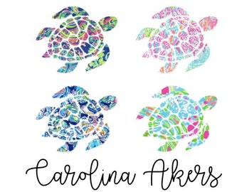 Sea Turtle Decal - Turtle Decal - Vinyl Decal - Window Decal - Yeti Decal - Yeti Sticker - Tumbler Decal - Car Decal - Yeti Sticker