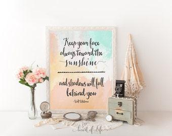 Walt Whitman quote, Printable art, Inspirational quote, Motivational quote print, Printable quote, Nursery wall art, HEART OF LIFE Design