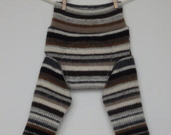 Lambswool/angora longies/ diaper cover / soakers for newborns