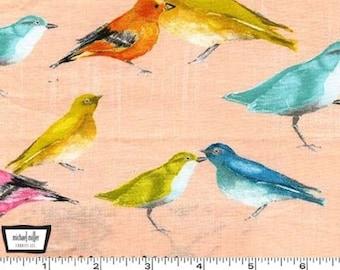 Flutter - Birdies Candy - Cotton Fabric by Laura Gunn from Michael Miller