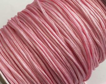 5 m cord braided Nylon, 1.5 mm in diameter, pink