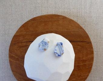 Faceted Hexagon Stud Earrings SALE