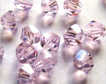Pink Bicone 4mm Crystal 40 Czech beads
