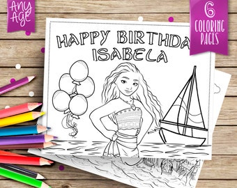 moana personalized coloring pages 6 printable coloring pages moana printables party coloring pages - Customized Coloring Pages