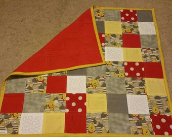 Poo -baby quilt- baby shower gift