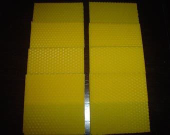 sheets of pure beeswax 10cm x 10cm (8 pcs)