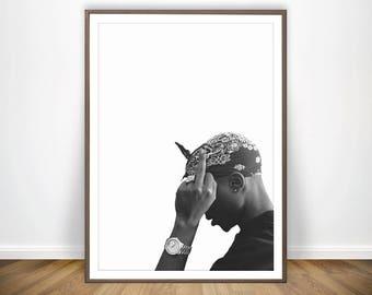 Tupac Print 2pac Poster Rap Posters Rap Lyrics Tupac Poster Tupac Amaru Shakur 2pac Art Gangsta Rap Print Rapper 2 Pac Poster Tupac Wall Art