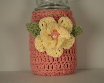 Mason Jar Cozy - Yankee Candle Cozy - Jar Cozy - Candle Cover - Crochet Jar Cozy - Jar Sleeve - Mason Jar Cover - Candle Cozy - Candle Wrap