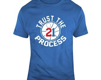 Philadelphia Basketball Team Trust The Process 21 T Shirt