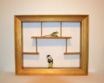 Vintage 1950's / MCM / Shadow Box / Shelves