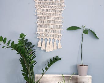 Handmade Macrame Wall Hanging // Lanscape Pattern // Wall Art // Tapestry with tassel details