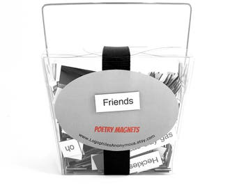 Friends Magnetic Poetry / Fridge Magnets / Friends TV Show Quotes / Friends Show Gift / Ross and Rachel / Housewarming Gift / Friends Office