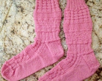 Hand Knit Wool Socks - Opal Sock Yarn (S-179)