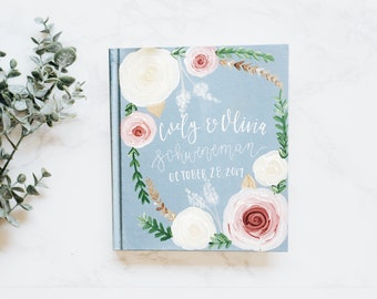 Wedding & Couples // Custom Design // Hand Painted Bible // Unique Guestbook