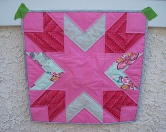 Modern Mini Quilt - Pink Star